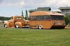 Custom truck and camper