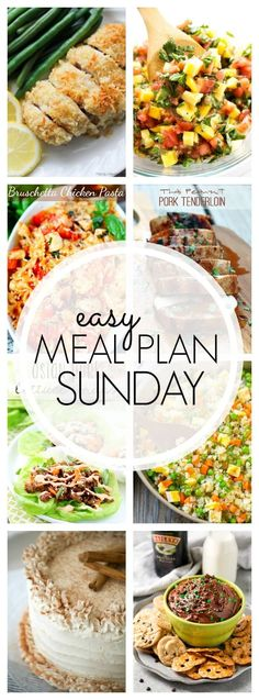 The BEST Easy Meal Plan! 6 Dinners, 1 Breakfast, 1 Healthier Meal and 2 Desserts….all tried & true, family tested, and guaranteed to make your week easier! ~ http://www.julieseatsandtreats.com