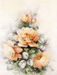 Flores sempre belas e perfeitas..... Que talento extraordinário dessa artista!