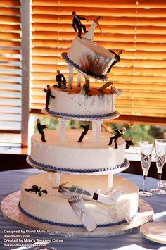 le gâteau de mariage Michael Bay pour les geeks.