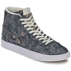 Sneaker High Nike BLAZER MID PREMIUM VINTAGE Grau : 30% Rabatt - Ein Modell, das alle Sneaker-Fans begeistern wird. #Schuhe #herren #Sneakerherren #NikeSchuh