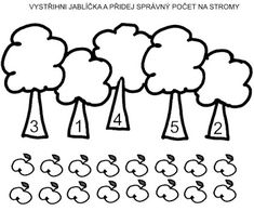 Pro Šíšu: Zahrada Kids Math Worksheets, Free Printable Worksheets, Free Printables, Paper Crafts Origami, Free Preschool, Math For Kids, Child Development, Alphabet, Kids Learning Activities