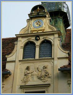 The Glockenspiel in Graz, Austria Places Around The World, Around The Worlds, Places Ive Been, Places To Go, Graz Austria, Carinthia, Salzburg, Beautiful Buildings, Wonderful Places