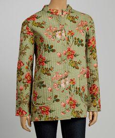 Look at this #zulilyfind! Sage Quilted Reversible Jacket - Women & Plus by La Cera #zulilyfinds