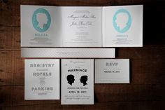I absolutely love the silhouette design on invitations