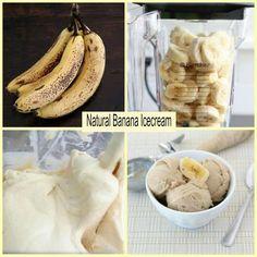 Just frozen banana....maybe a little ice, vanilla soy milk and cinnamon