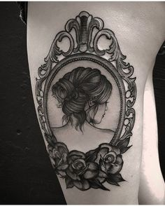 antique mirror frame tattoo.  Antique Tattoo Porta Retrato Vintage Inspirationtatto Tatuador Fetattooer In Antique Mirror Frame Tattoo L