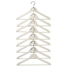 $4.99 BUMERANG Curved clothes hanger - white - 8 pack IKEA