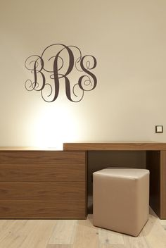 Wooden Monogram Wall Letters Unpainted Home Decor Monogram - Monogram wall decals wood