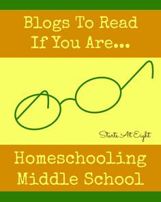 Blogs To Read If You Are Homeschooling Middle School from Starts At Eight