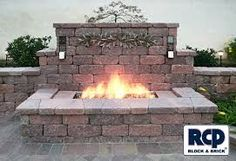 Image result for outdoor fire pit square