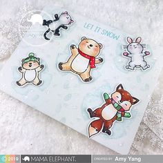 Scrapbook Cards, Scrapbooking, Mama Elephant Cards, Snow Angels, Winter Cards, Lawn Fawn, Hero Arts, Creative Cards, Diy Cards