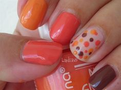 Thanksgiving nails - maybe on my toes. Get Nails, Love Nails, How To Do Nails, Pretty Nails, Funky Nails, Color Nails, Thanksgiving Nail Designs, Thanksgiving Nails, Nail Art 2014