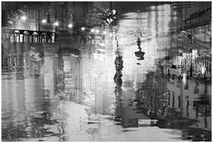 St. Petersburg Black and white photography abstract Night by Elena Anufrieva   #petersburg #st-petersburg #russia #cityscape #photography #art #black #reflection #blackandwhite #bwphotography