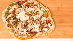 Pizzas au poulet grillé style sud-ouest