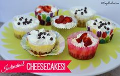 Recipe: Individual Cheesecakes (with sugar)!