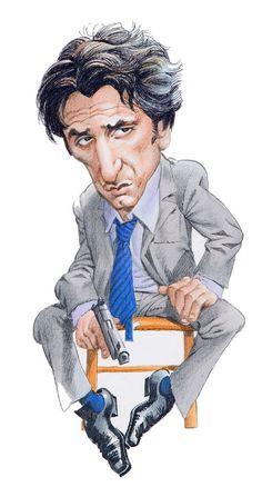 Sean Penn --Character and Creature Design Notes: Mort Drucker Caricature Artist, Caricature Drawing, Funny Caricatures, Celebrity Caricatures, Cartoon Faces, Funny Faces, Cartoon Body, Cartoon People, Sean Penn