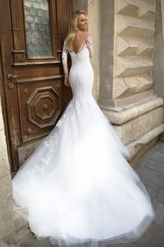 Robe de mariée glamour – Création Fabienne