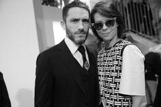 Sébastien Jondeau et Charlotte Stockdale, styliste de Fendi, en backstage du défilé Fendi automne-hiver 2014-2015 http://www.vogue.fr/mode/inspirations/diaporama/fashion-week-milan-les-coulisses-automne-hiver-2014-2015-jour-2-fw2014/17650/image/958581#!sebastien-jondeau-et-charlotte-stockdale-styliste-de-fendi-en-backstage-du-defile-fendi-automne-hiver-2014-2015