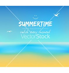 Summer background with sand and water vector by BerSonnE on VectorStock®