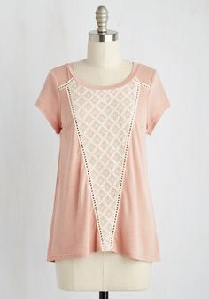 Prim Pseudonym Top. To channel the voice of your alternate narrative, you slip into this petal pink top and take to the typewriter!  #modcloth