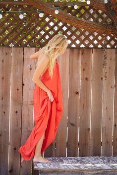 The Bling Ring star, Maika Monroe wears the TYSA Wanderlust dress - gorgeous makeup by Kerry Malouf.