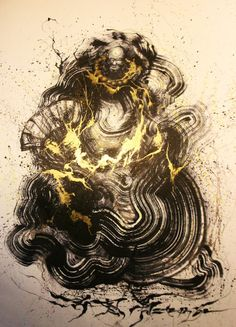"""BODHIDHARMA OF BLACK GOLD"" from foshan-based artist HUA TUNAN /// NeochaEDGE ///"