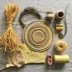 Join us on January for a celebration of summer at Alowyn Gardens, Yarra Glen one hour from Melbourne. We will be creating coiled baskets with all things summer - beautiful hand dyed raffia. Handmade Headbands, Handmade Crafts, Diy Crafts, Handmade Rugs, Raffia Crafts, Making Baskets, Indian Crafts, Weaving Art, Baskets On Wall