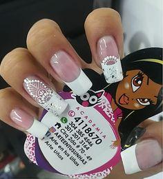 Nail Manicure, Nail Polish, Nail Studio, Gorgeous Nails, French Nails, White Nails, Wedding Nails, Nail Art Designs, Finger
