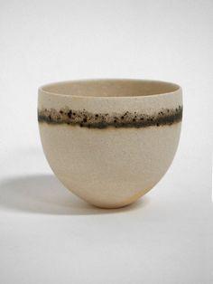 Jennifer Lee: pale, olive and speckled band bowl. #stoneware, #ceramics