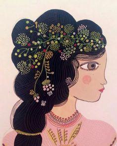By aurelia fronty Portfolio Pictures, Purple Rain, Disney Characters, Fictional Characters, Illustration Art, Bloom, Portrait, Disney Princess, Inspiration