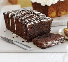 Double Chocolate loaf cake...I am really loving loaf cakes...yummy cake without a whole lot of cake left over