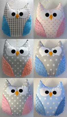 Szczegy o gorgeous handmade owl pillow baby gift mr owl handmade kids room boy girl baby mobile quot; baby mobile baby shower gift new baby gift felt animals toy baby mobile woodland forest mobile Sewing Toys, Baby Sewing, Sewing Crafts, Sewing Projects, Baby Pillows, Kids Pillows, Animal Pillows, Burlap Pillows, Owl Baby Quilts