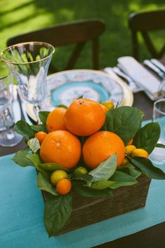 Image result for wood crate with oranges tabletop decor
