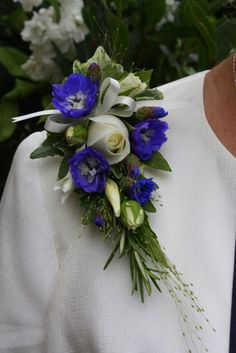 Flower Design Events: Blue Dress Corsage