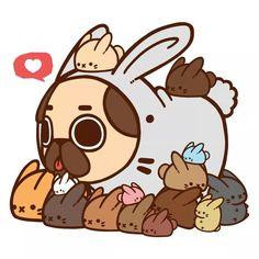 Pecas camuflajeado pantalla de perro, fondo de pantalla animado, perritos a Arte Do Kawaii, Art Kawaii, Kawaii Doodles, Anime Kawaii, Kawaii Cute, Cute Animal Drawings, Kawaii Drawings, Cute Drawings, Pug Wallpaper