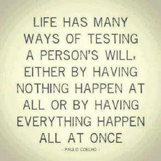 Life testing you