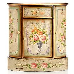 "Style at Home with Margie 29.75"" French Meadow Hand-Painted Cabinet"