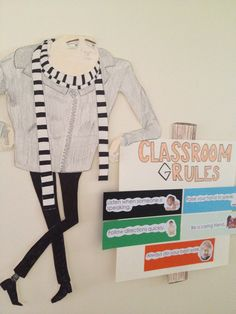 """Despicable Me"" classroom theme. Classroom Grules."