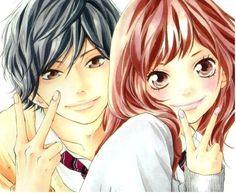 Ao haru ride (for short aoharaido). Futaba Y Kou, Futaba Yoshioka, Fanarts Anime, Manga Anime, Ao Haru Ride Kou, Tanaka Kou, Blue Springs Ride, Space Artwork, Cute Love Stories