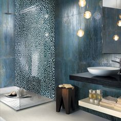 Contemporary Bathroom with Asian influence