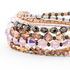 Golden Rose Bracelet | Fusion Beads Inspiration Gallery #strawberryice #pantone