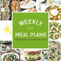 Weekly Meal Plans - Get recipe inspiration and more! Two Peas and Their Pod