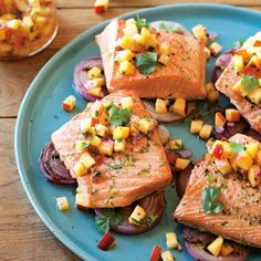 Grilled Salmon and R