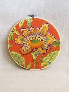 Hoop Art Embroidery Hand Embroidery Art Flower by wilshepherd
