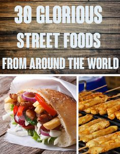 30 Glorious Street Foods From Around The World That Will Make You Want To Travel And eat. Mainly eat, in fact. Food Trucks, World Street Food, Jai Faim, Around The World Food, Cooking Recipes, Healthy Recipes, Bons Plans, World Recipes, C'est Bon