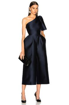 Shop for Stella McCartney Kallie Silk Mix One Shoulder Jumpsuit in Indigo at FWRD. Free 2 day shipping and returns. Event Dresses, Prom Dresses, Formal Dresses, Couture Dresses, Fashion Dresses, Stella Mccartney, One Shoulder Jumpsuit, Indigo, Chic Outfits