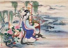 Four Beauties - A Japanese painting by Edo-based artist Hosoda Eishi titled The Chinese beauty Yang Guifei, early century Sun Tzu, Yang Chinese, Chinese Art, Chinese Style, Japanese Painting, Chinese Painting, Macau, 2000 Piece Puzzle, Japanese Drawings