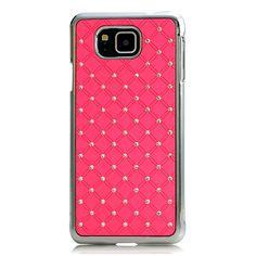 Nextmall 3D glitzern Kristall Sterne rosa PC hülle Case Schutzhülle für Samsung Galaxy Alpha G850 / G850F