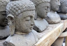 Buddha busts for a tranquil garden | Rolling Greens Culver City